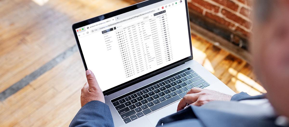 OmniVue Enterprise products listing