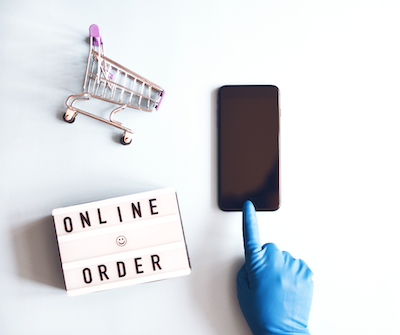 shopping online at home
