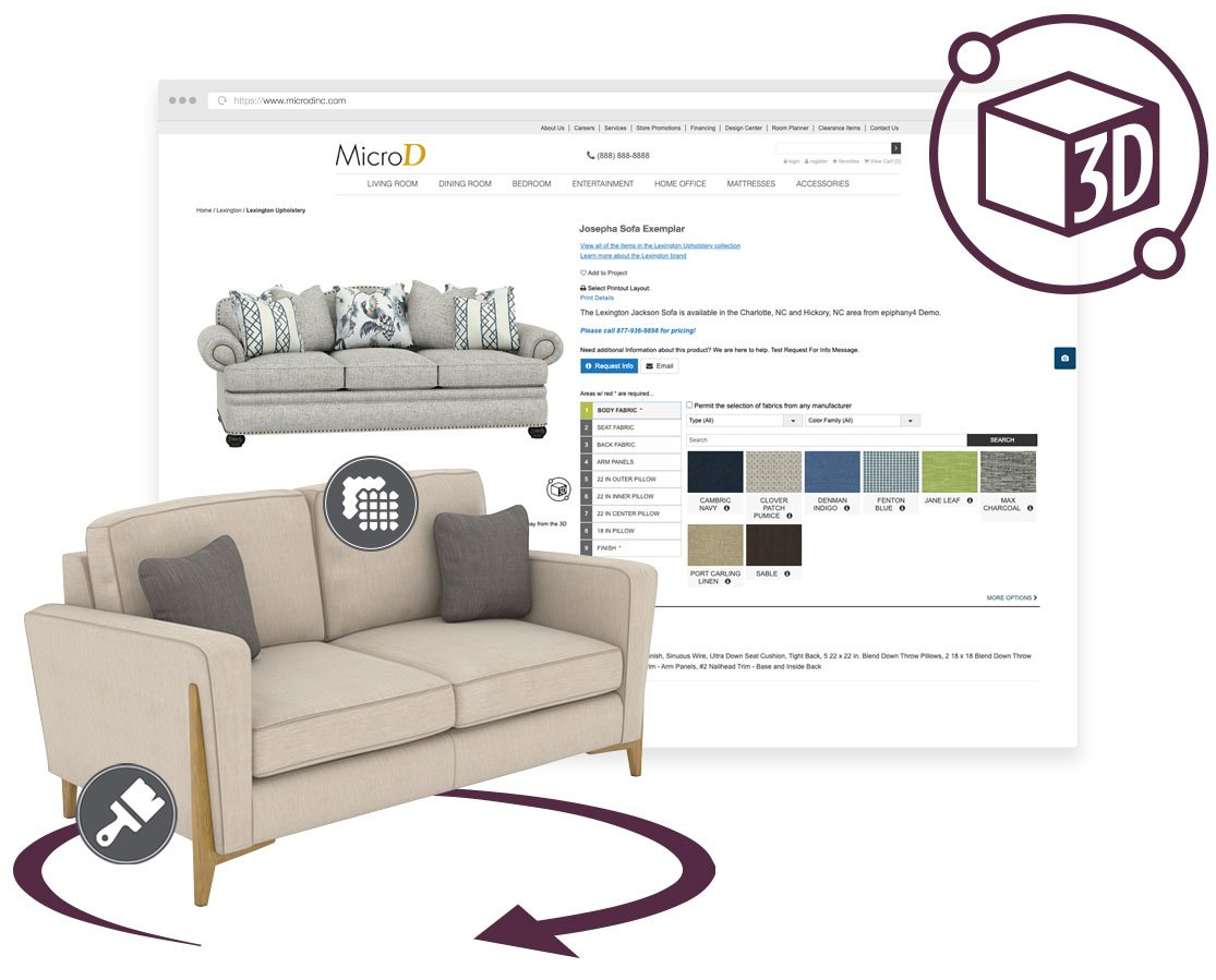 2D and 3D furniture visualization by MicroD